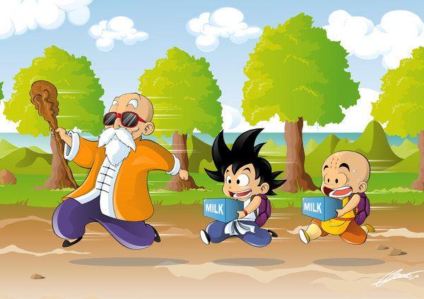 Roshi Training By Witchking00 On Deviantart Dragon Ball Art Dragon Ball Z Dragon Ball
