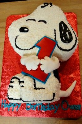 Snoopy cake by slice custom cakes Birthday Cakes By Slice