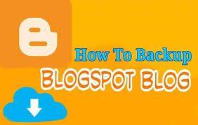blog spot backup