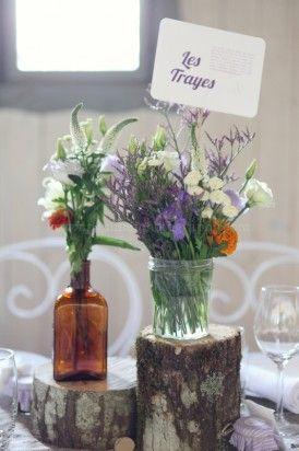 Un mariage bohême en violet