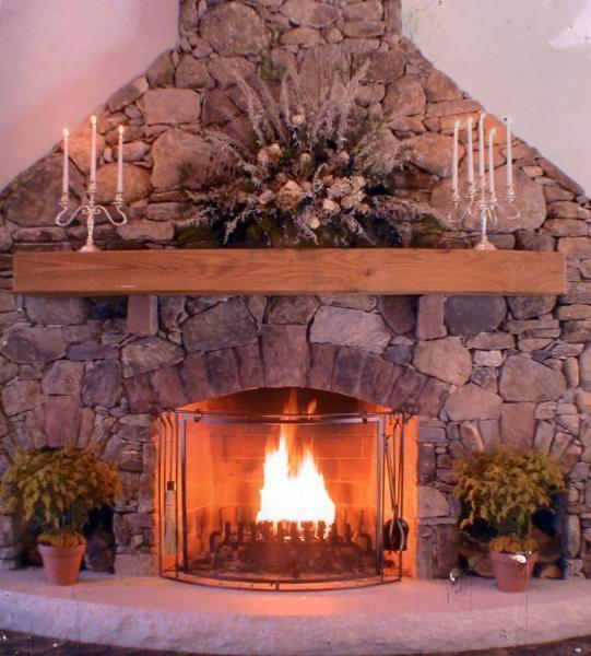 Field Stone Fireplace fireplace dividing wall www.northstarstone.biz | beautiful