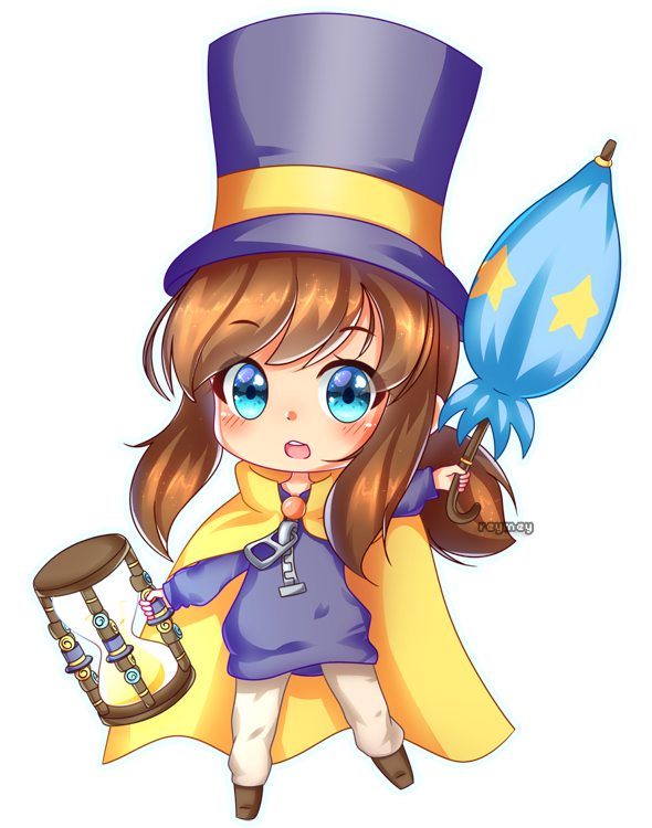 Hat Kid By Reymey A Hat In Time Girl With Hat Character Design
