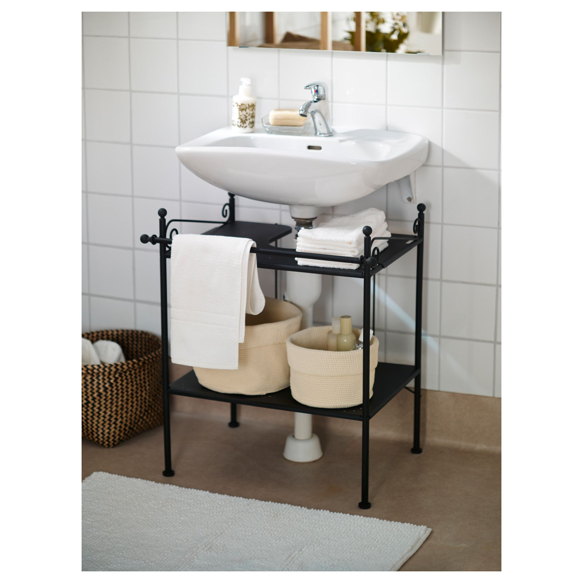 Ronnskar Sink Shelf   A Sink Is Generally Shaped And Is Also Called Basin.  This Is Used To Wash Hands Or Objects.