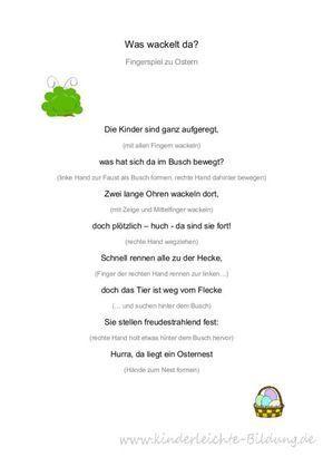 Osterspiele Kindergarten