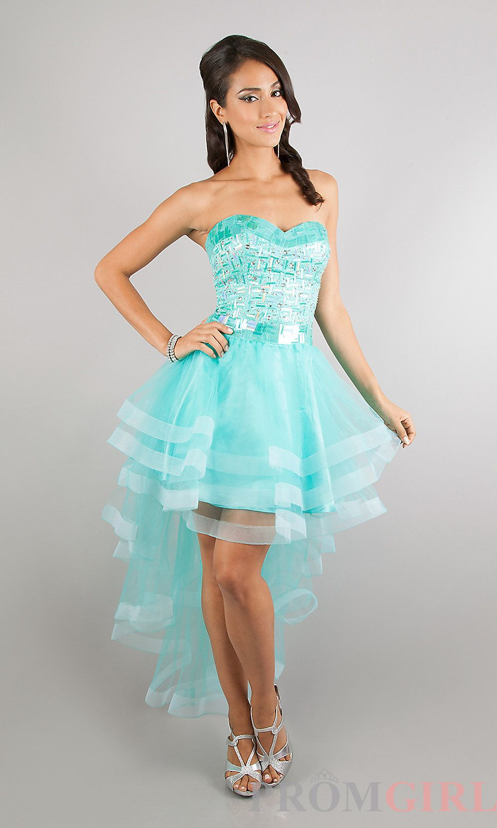 Sean Couture 70689 High Low Sequin Party Dress | prom | Pinterest ...