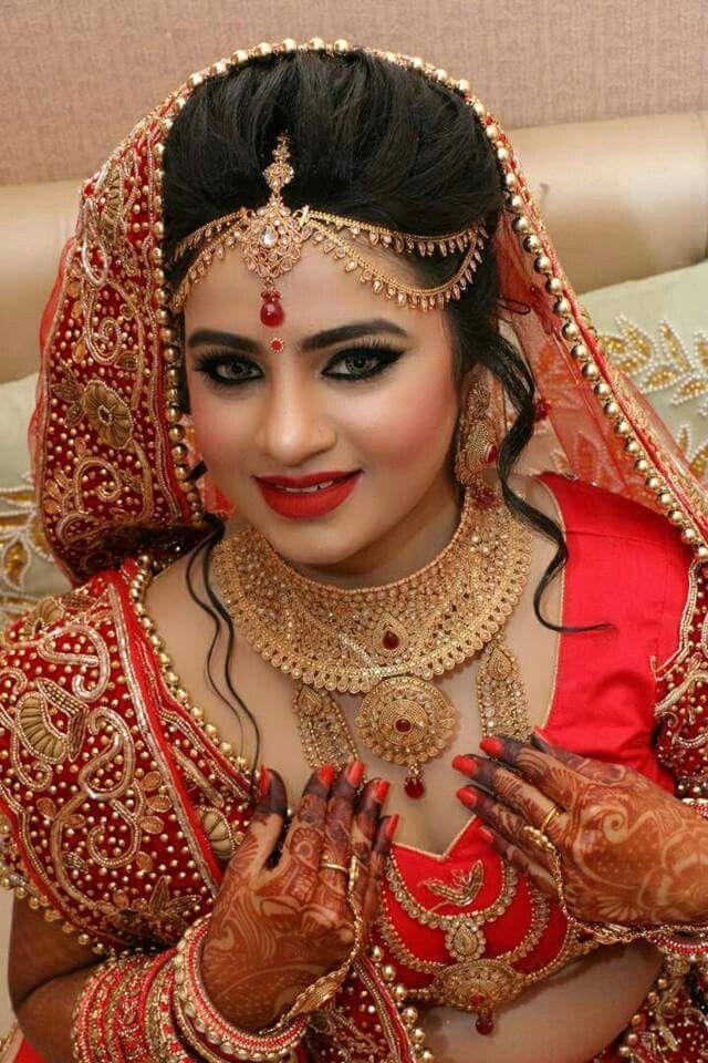 Indian Bride Bridal Makeup Looks, Indian Bridal Makeup, Indian Wedding Jewelry, Indian Bridal