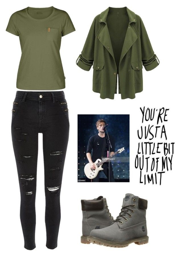 """""""5sos concert (Luke girlfriend )"""" by love5sosforever ❤ liked on Polyvore featuring River Island, Fjällräven and Timberland"""