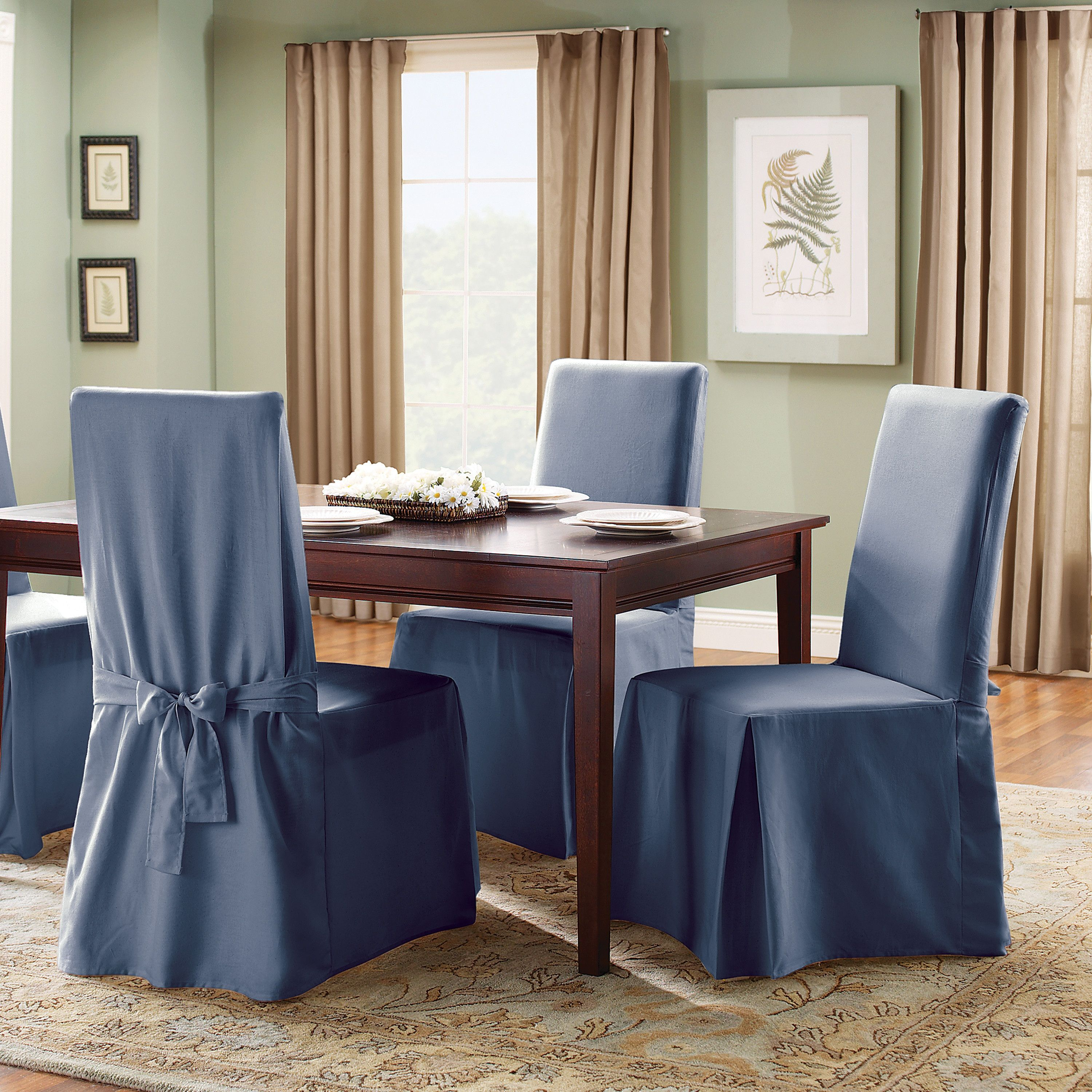 Mesmerizing Dining Room Chair Slipcovers  Dining Room  Pinterest Custom Seat Cover Dining Room Chair Design Decoration