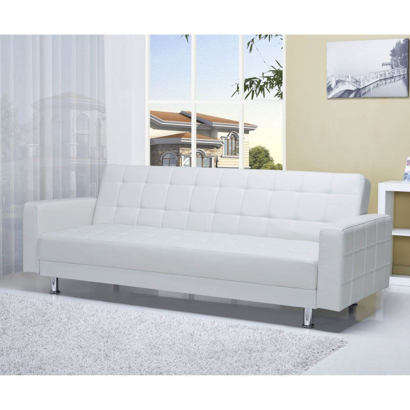 Gold Sparrow Frankfort Convertible Sofa White - ADC-FRA-SOF-PUX-WHI