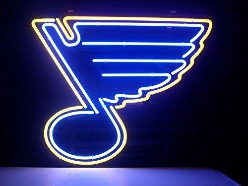 Weneon Handcrafted St Louis Blues Hockey Beer Bar Pub Display Design Decorat St Louis Blues Hockey Blue Neon Lights St Louis Blues