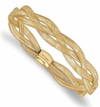 Italian Soft 14k Gold Mesh Stretch Bangle Bracelet Jewelry I Like