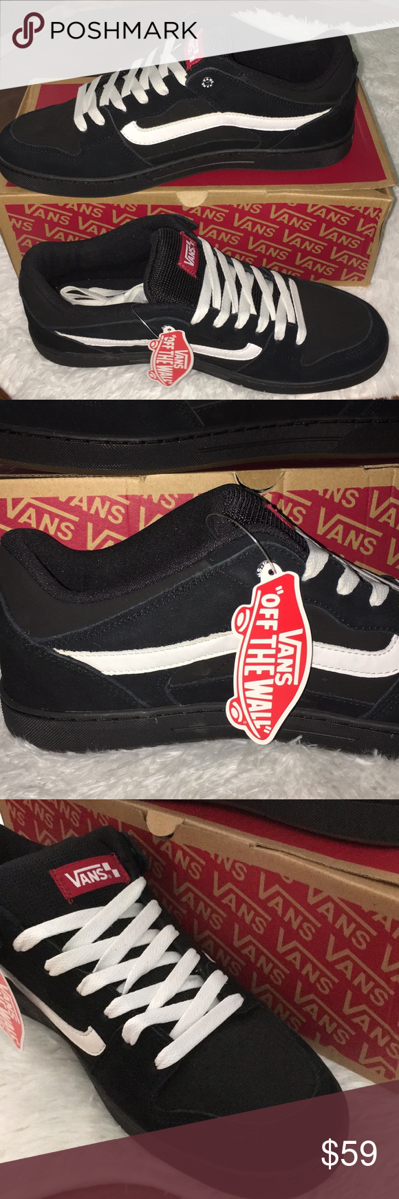 02a2abc1cff00 NEW VANS Baxter Black White Gum Skater Shoes 13 This is a pair of NEW in