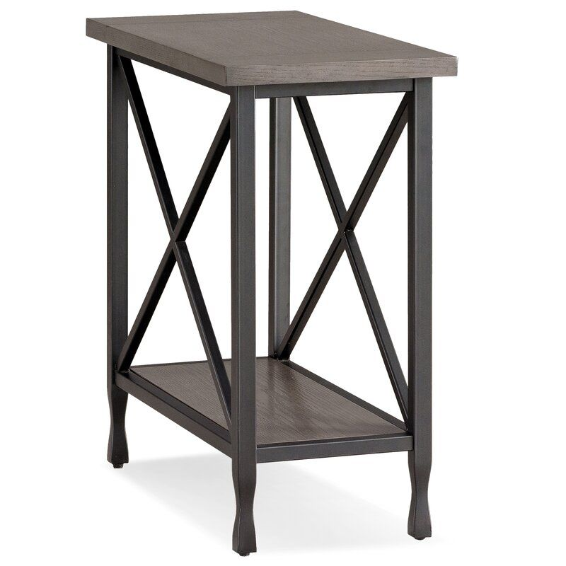 Cavallo End Table Recliner Tables Chair Side - Black Metal Narrow End Table