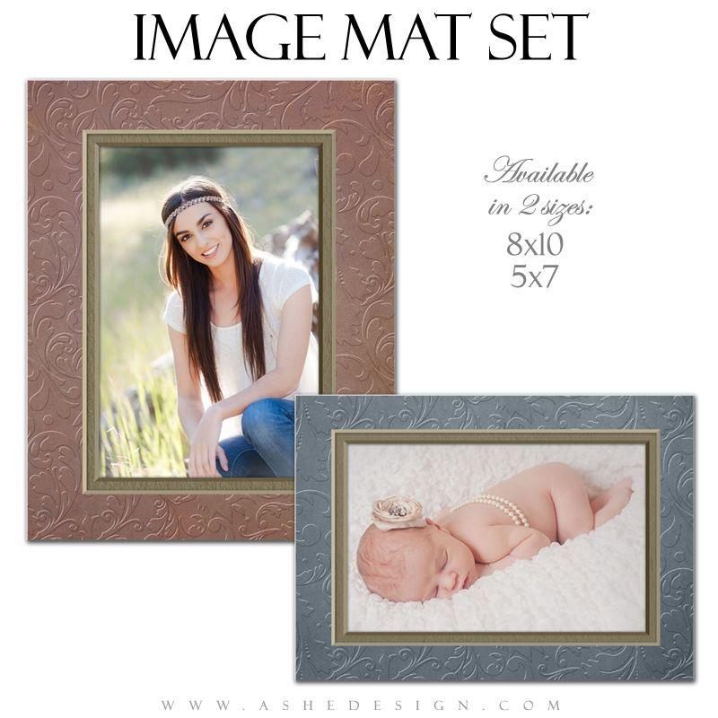 Image Mat Set (5x7 & 8x10) Embossed Swirls Collage