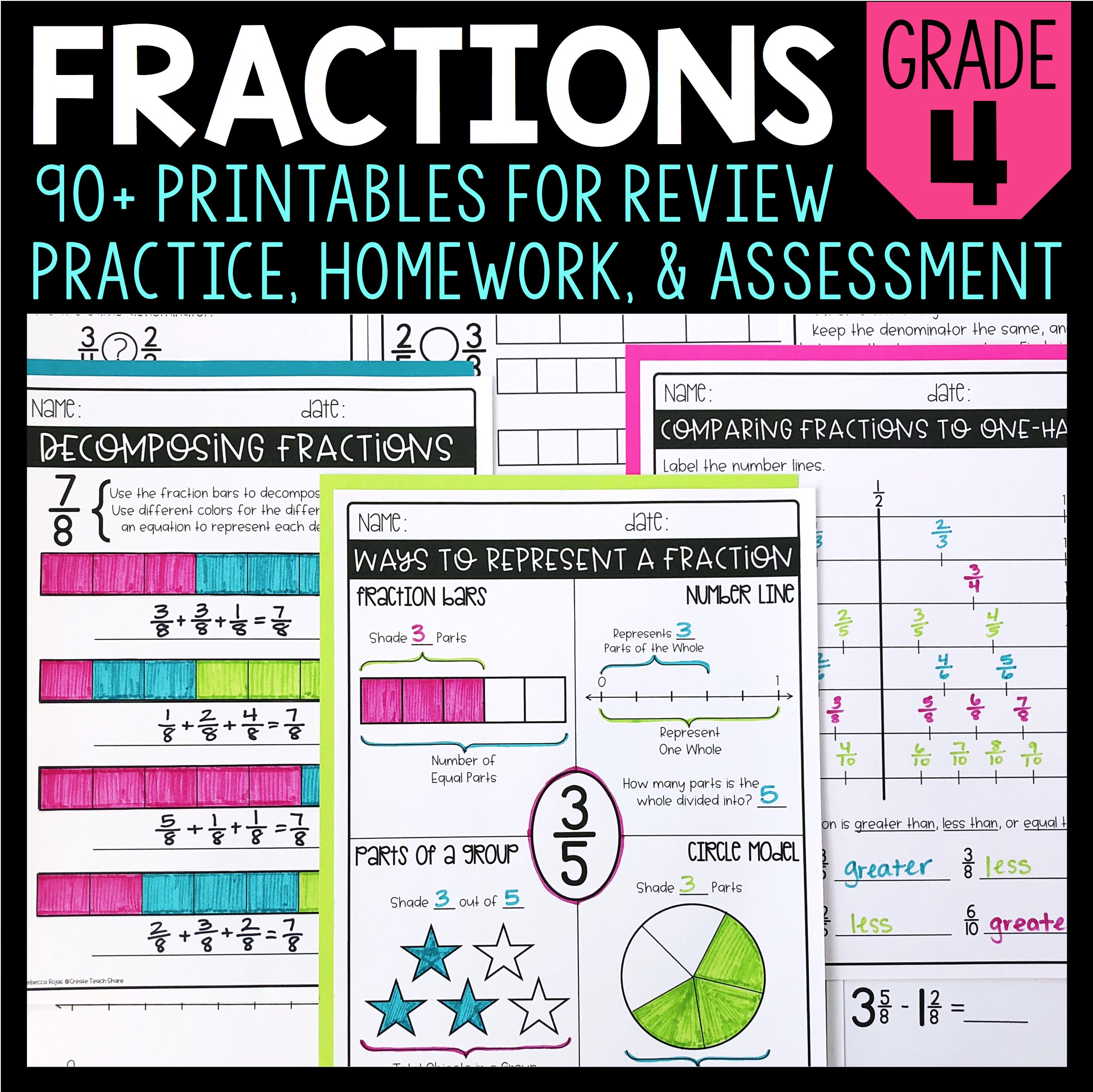 80 Fraction Printables