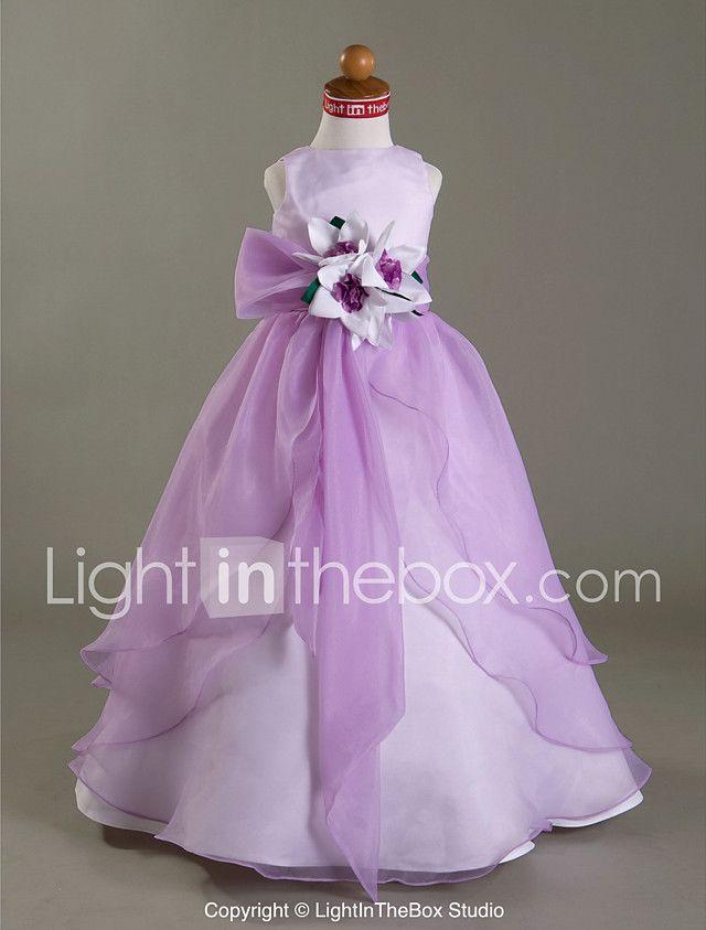Una línea de vestido de baile princesa longitud del piso vestido de ...