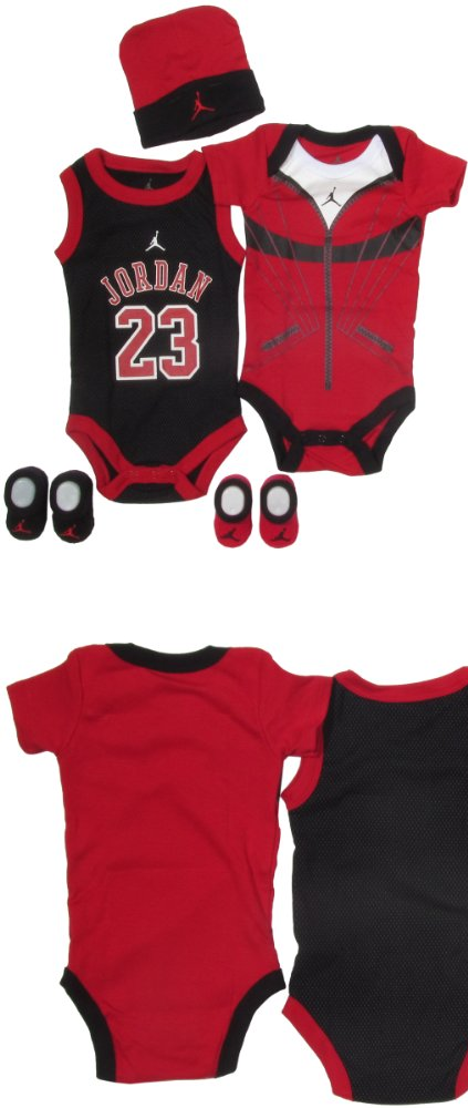 34b1c2febf6c Jordan Baby 23 Jersey and Warmup Set for Baby Boys and Girls (One Size 0-6  Months) - Air Jordan Baby 23 jersey and warmup set for boys and girls with  beanie ...