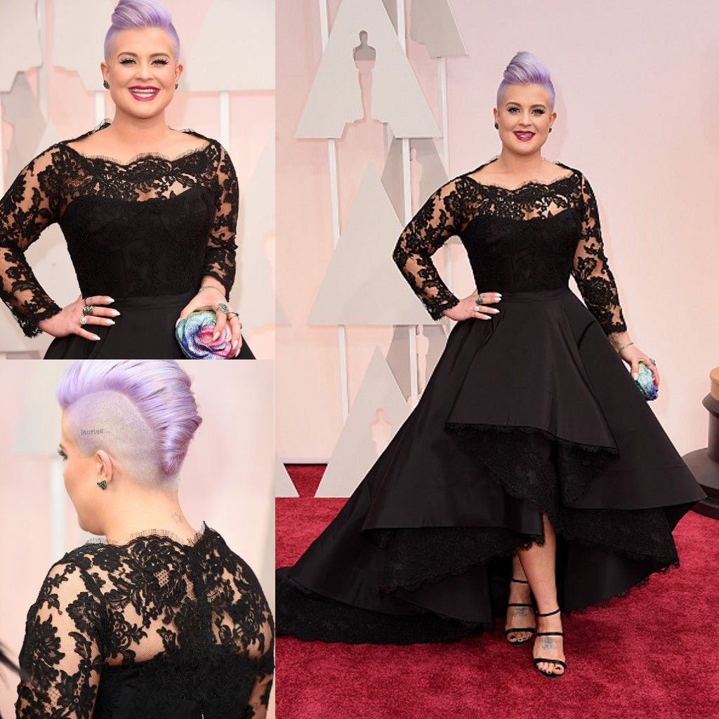 th oscar kelly osbourne celebrity dresses long sleeved lace