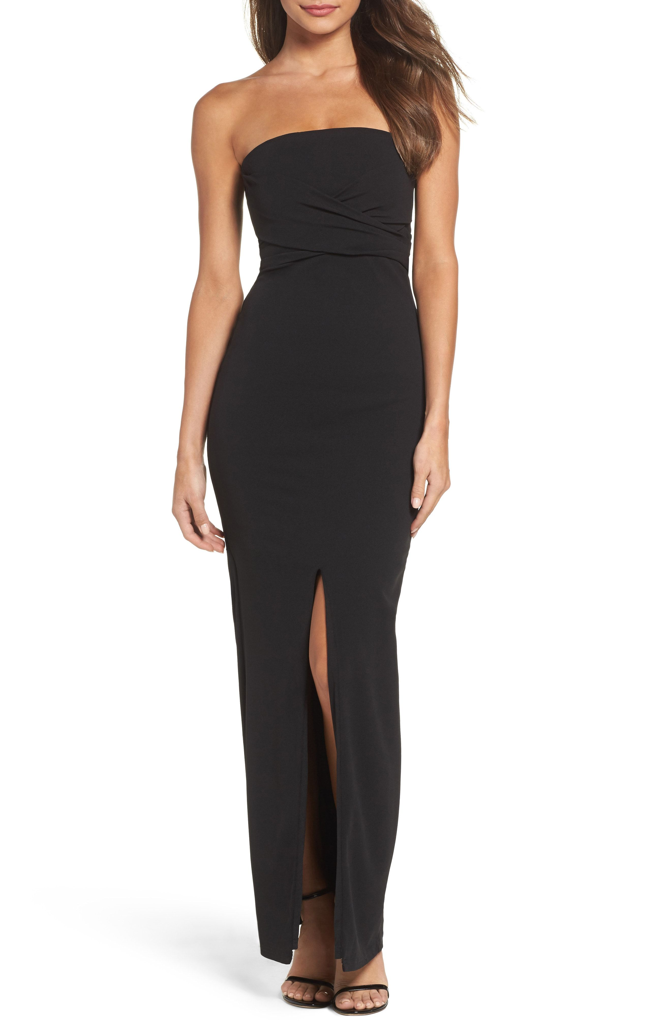 Pin By Dress For The Wedding On Queening Strapless Dress Formal Black Strapless Dress Column Gown [ 4048 x 2640 Pixel ]
