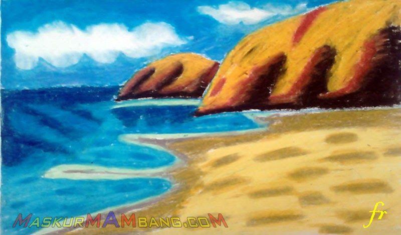 21 Gambar Pemandangan Pantai Dengan Menggunakan Krayon Izarnazar Cara Mewarnai Gambar Pantai Dengan Crayon Download Gambar Peman Pemandangan Gambar Pantai