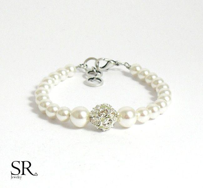 Brautschmuck armband perlen Armband Braut Hochzeit ivory Brautschmuck Perlen | Armband braut ...