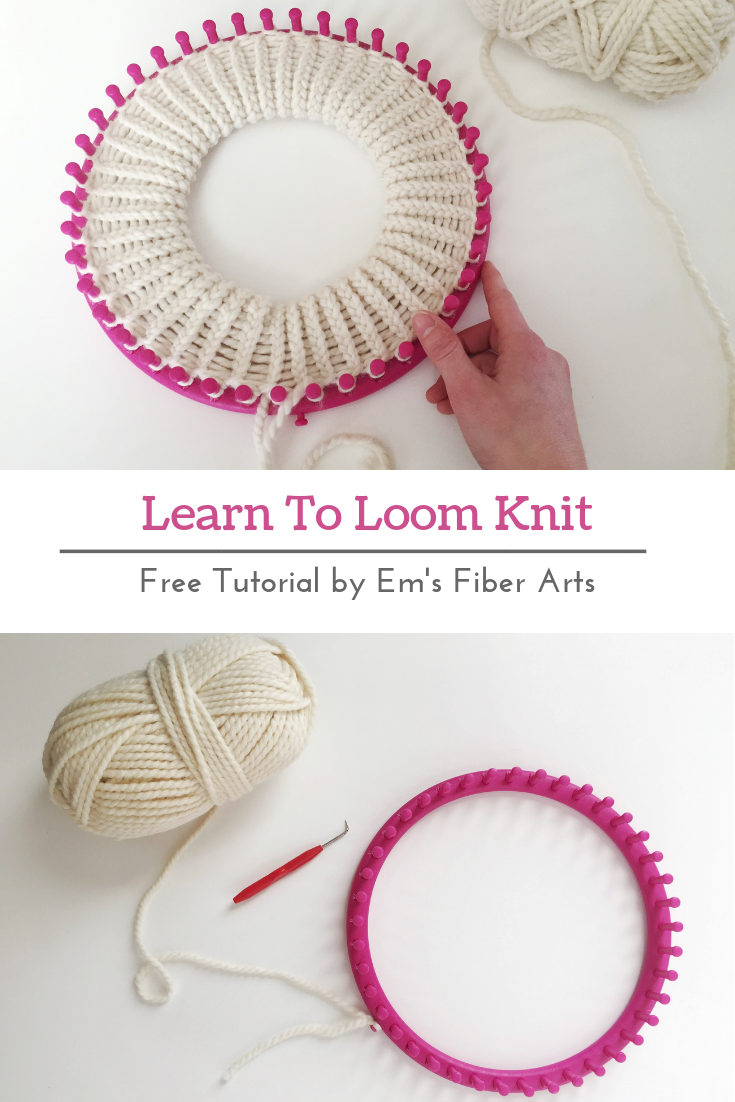 Learn To Loom Knit: Double Brim Beanie Tutorial #loomknitting