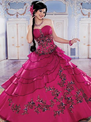 Pink Quinceañera Dresses! | Dress black, Pink prom dresses and ...