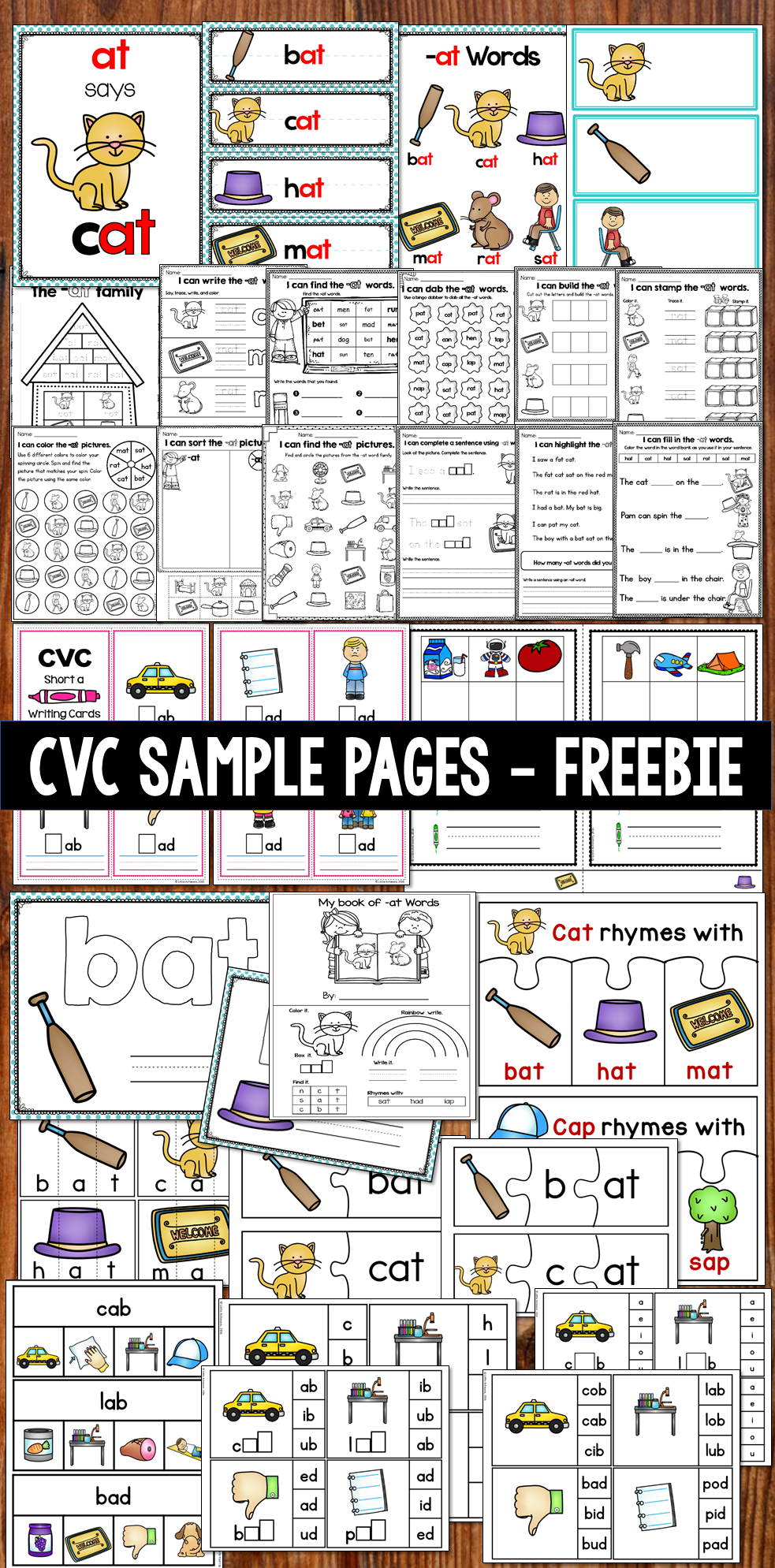 Free CVC word activities and worksheets | TpT FREE LESSONS ...