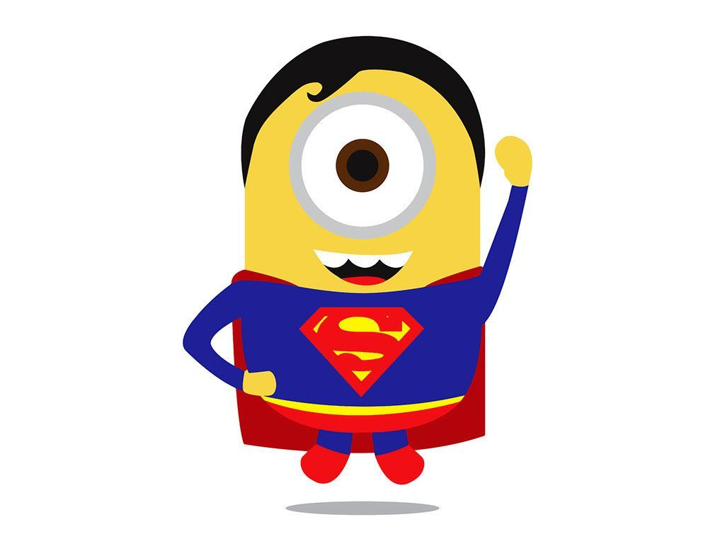 Minion Man of Steel Superman Poster