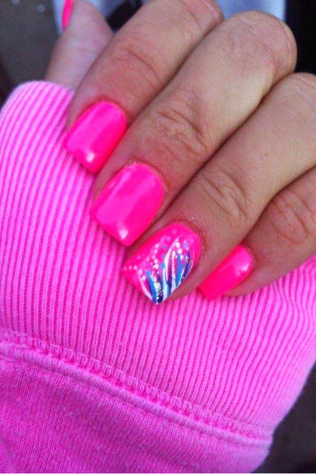 summer nail design for 2014 | nails | Pinterest | Summer, Makeup and ...