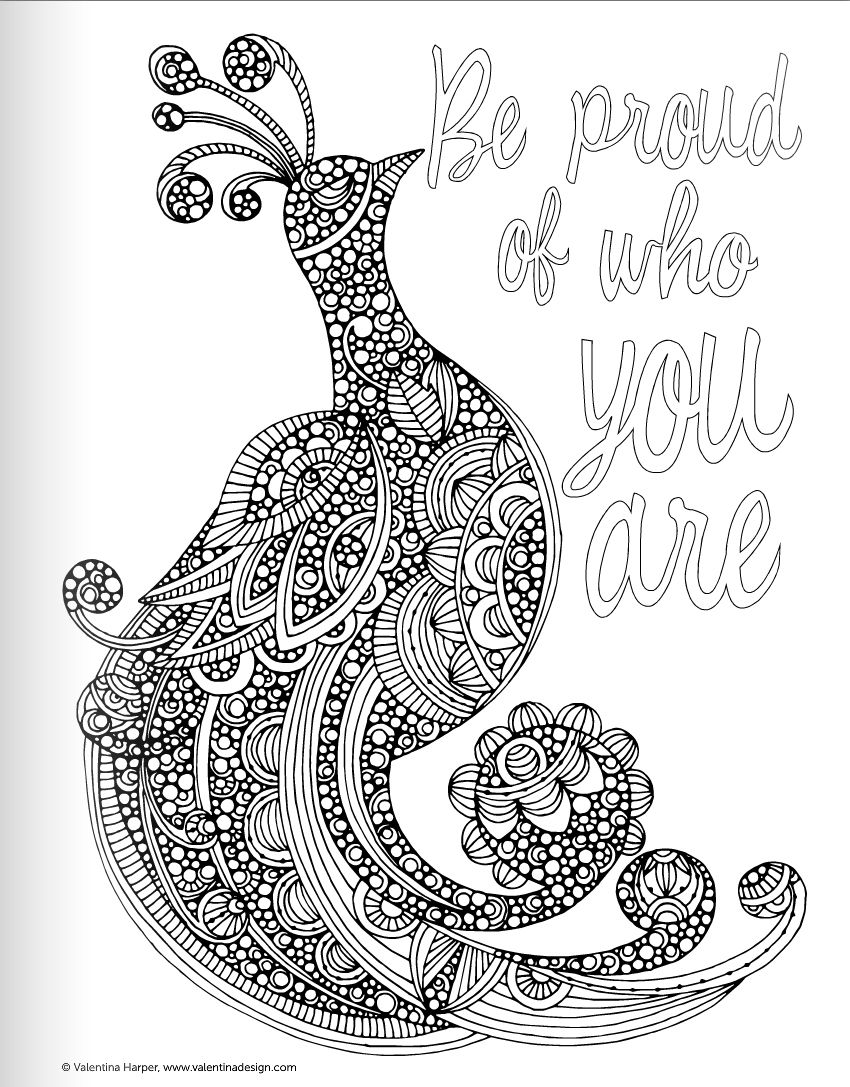 Free coloring pages for adults quotes - Valentina Harper Coloring Pages Google Haku Adult Coloring Pagesquote