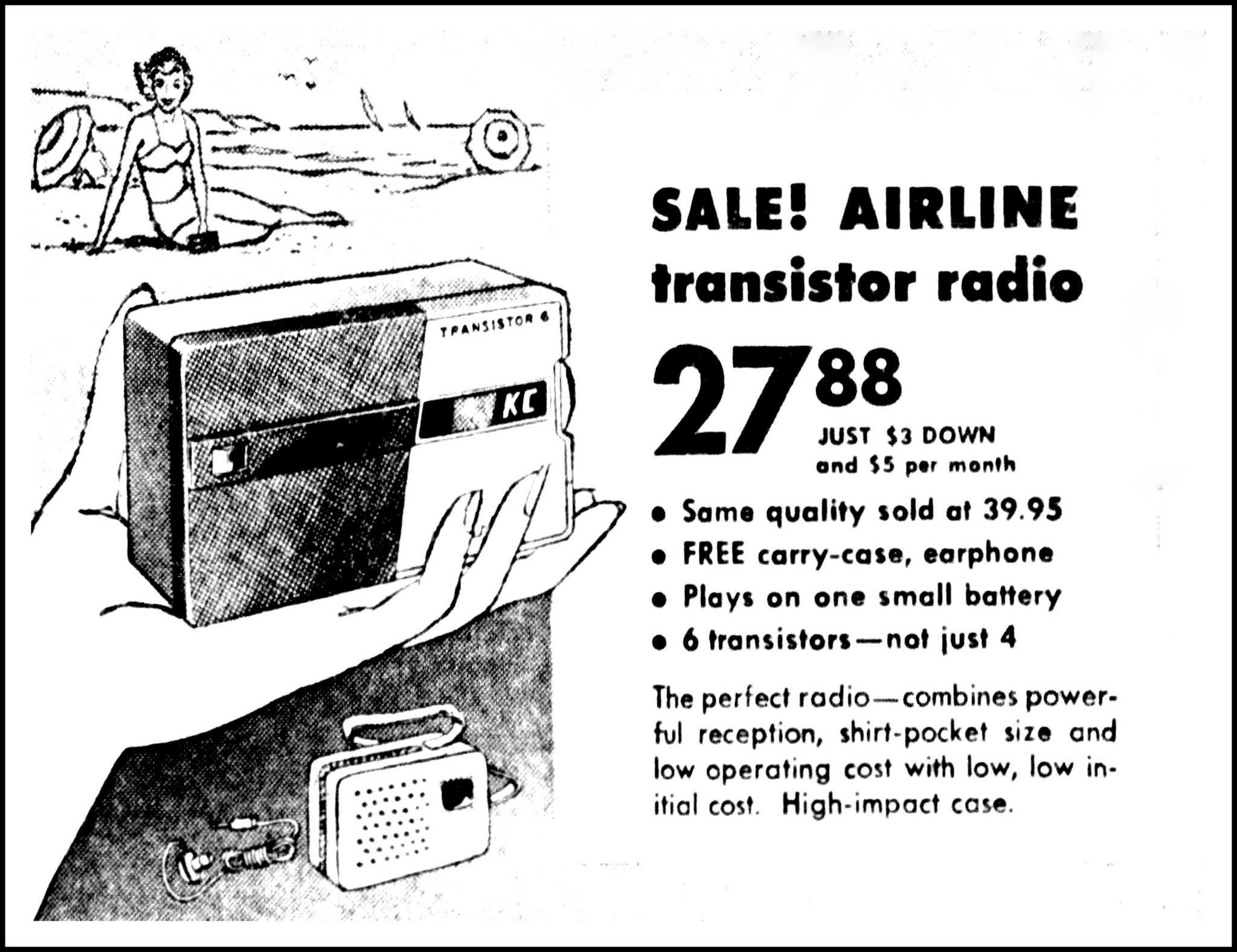 Vintage Advertising For The Airline Model Gen 1130a Transistor Radio One Https Flickr P 24nkhqb