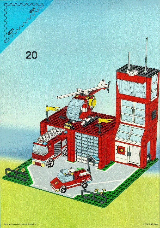 Rescue Fire Station With Rescue Helicopter Lego 6571 Lego