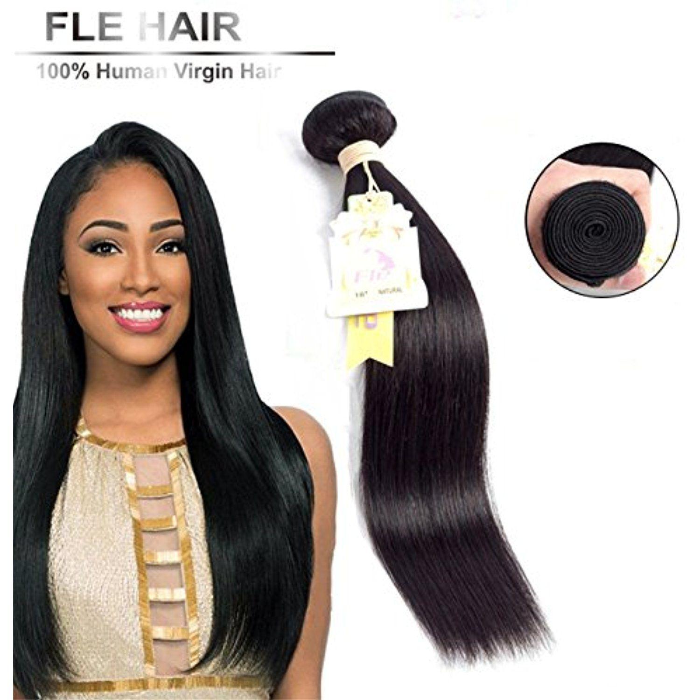 1bundle Human Hairbrazilian Human Virgin Hair Bundles Natural Color