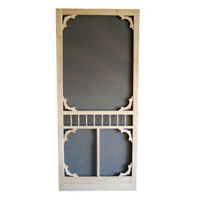 diy 32 in natural wood screen door lowes canada screen doors