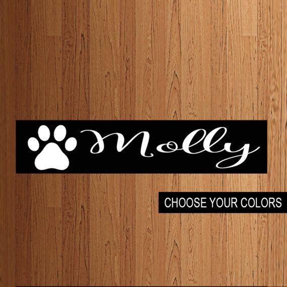 Pet Name Kennel Sign Wood Custom By Blendedcreationsinc On Etsy
