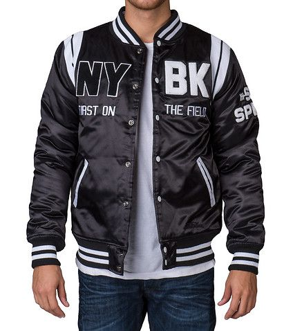 05483d9bf8f STALL AND DEAN New York Yankees and Brooklyn Nets satin jacket Shiny finish  Long sleeves Stripe