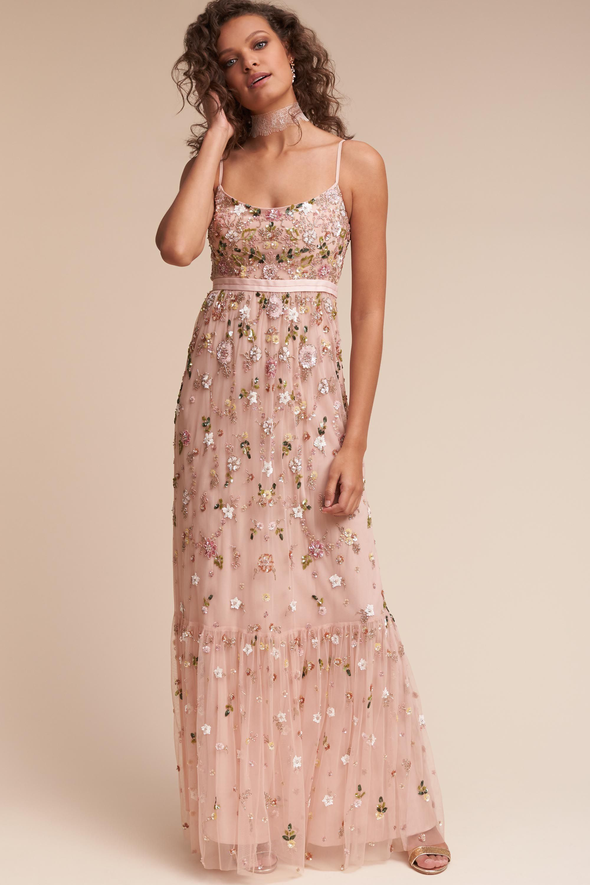 Long dress for wedding guest  BHLDN Kimya Dress in Party Dresses View All Dresses Embellished