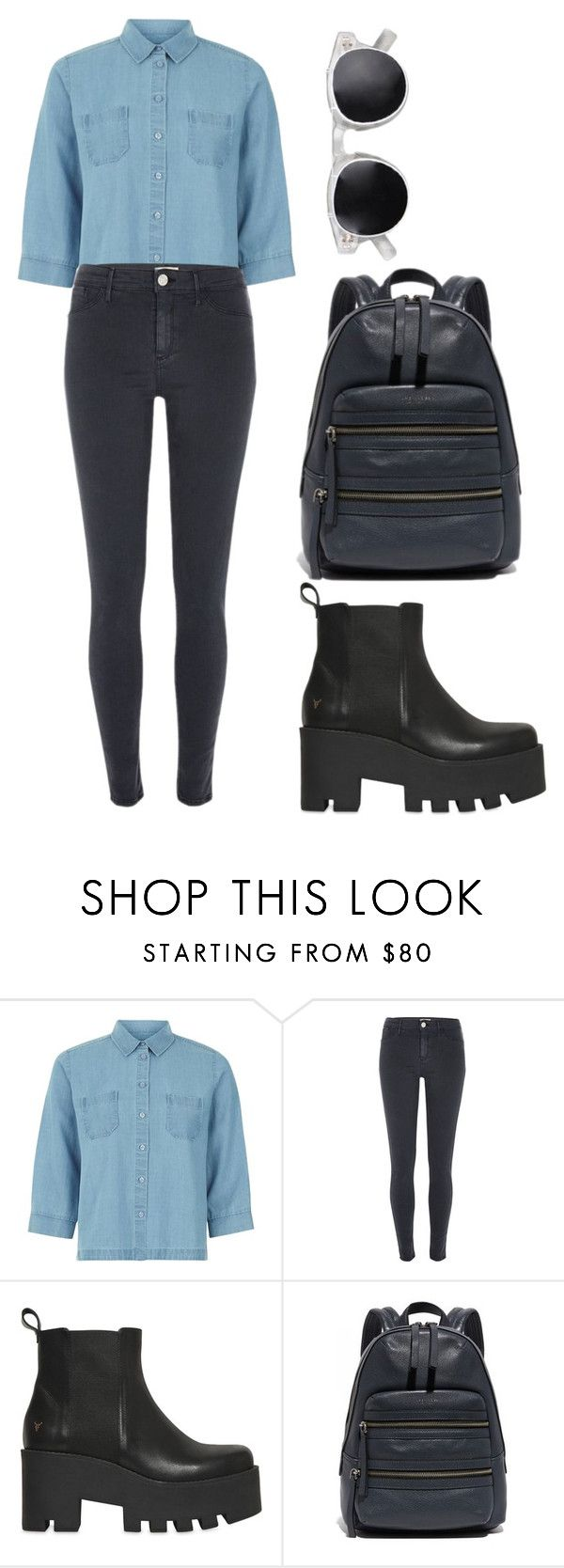 """""""a touch of blue"""" by just-hope ❤ liked on Polyvore featuring Hobbs, River Island, Windsor Smith, Marc Jacobs, simple, Blue and Leggings"""
