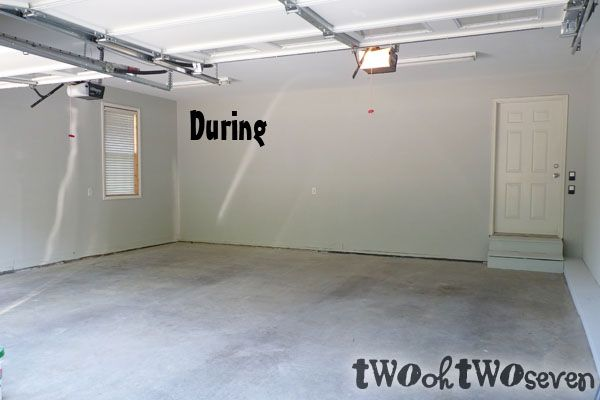 Sw Aloof Gray Color Painted Garage Walls