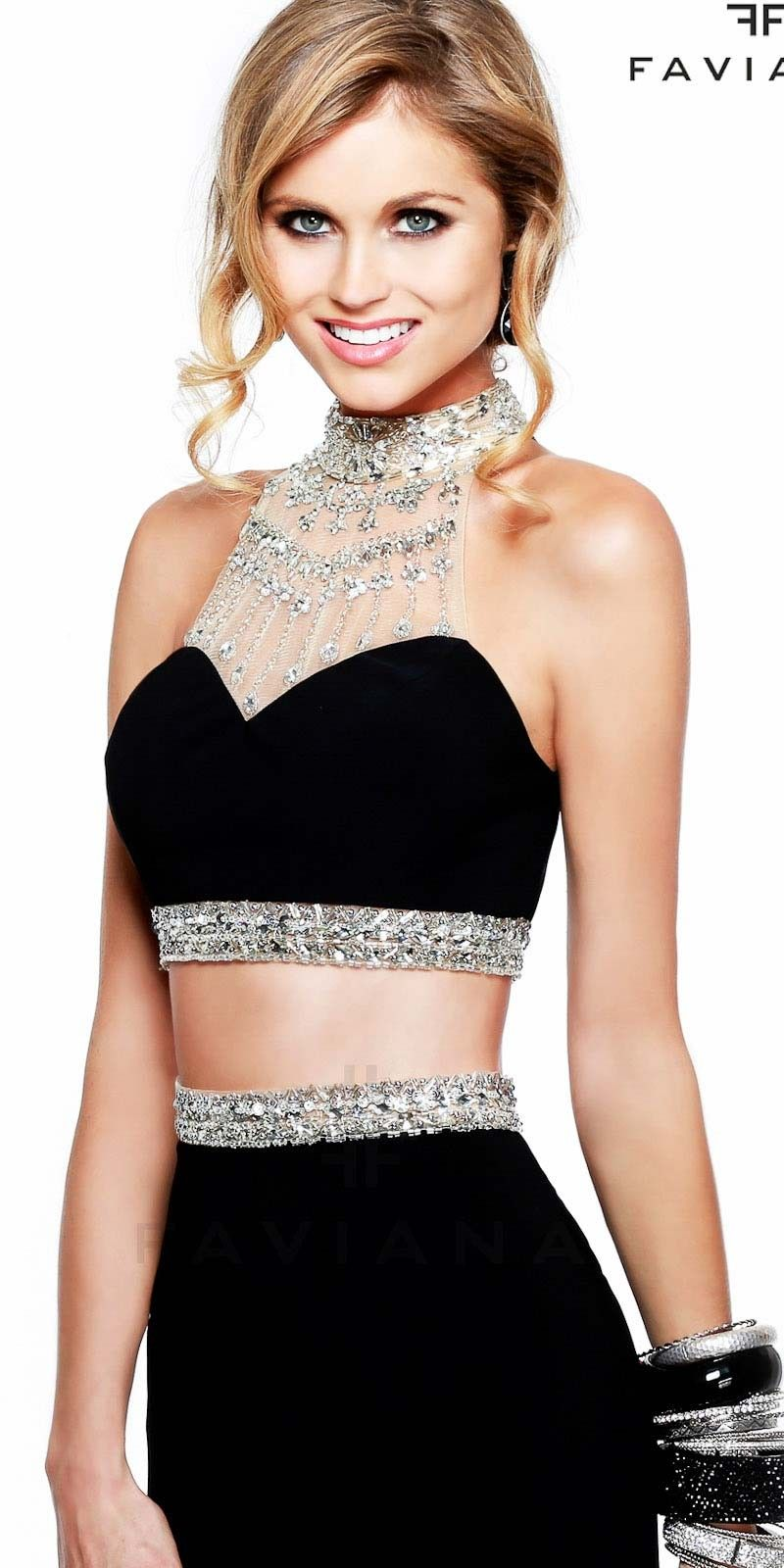 Sequined two piece prom dresses by faviana dresses pinterest