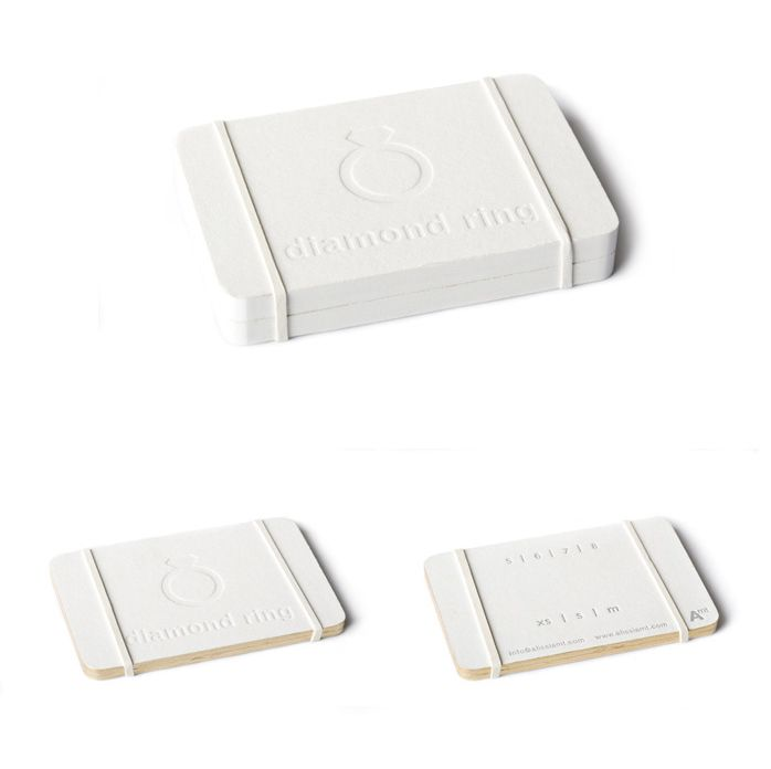 White Diamond Ring Packaging By Byamt Inc With Images Mini Notebooks Logo Packaging Jewelry Packaging