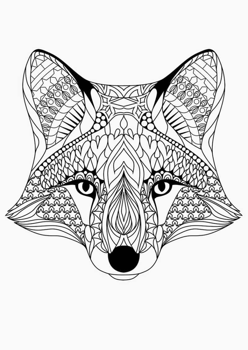 December Holidays Fox Coloring Page Animal Coloring Pages Cool Coloring Pages