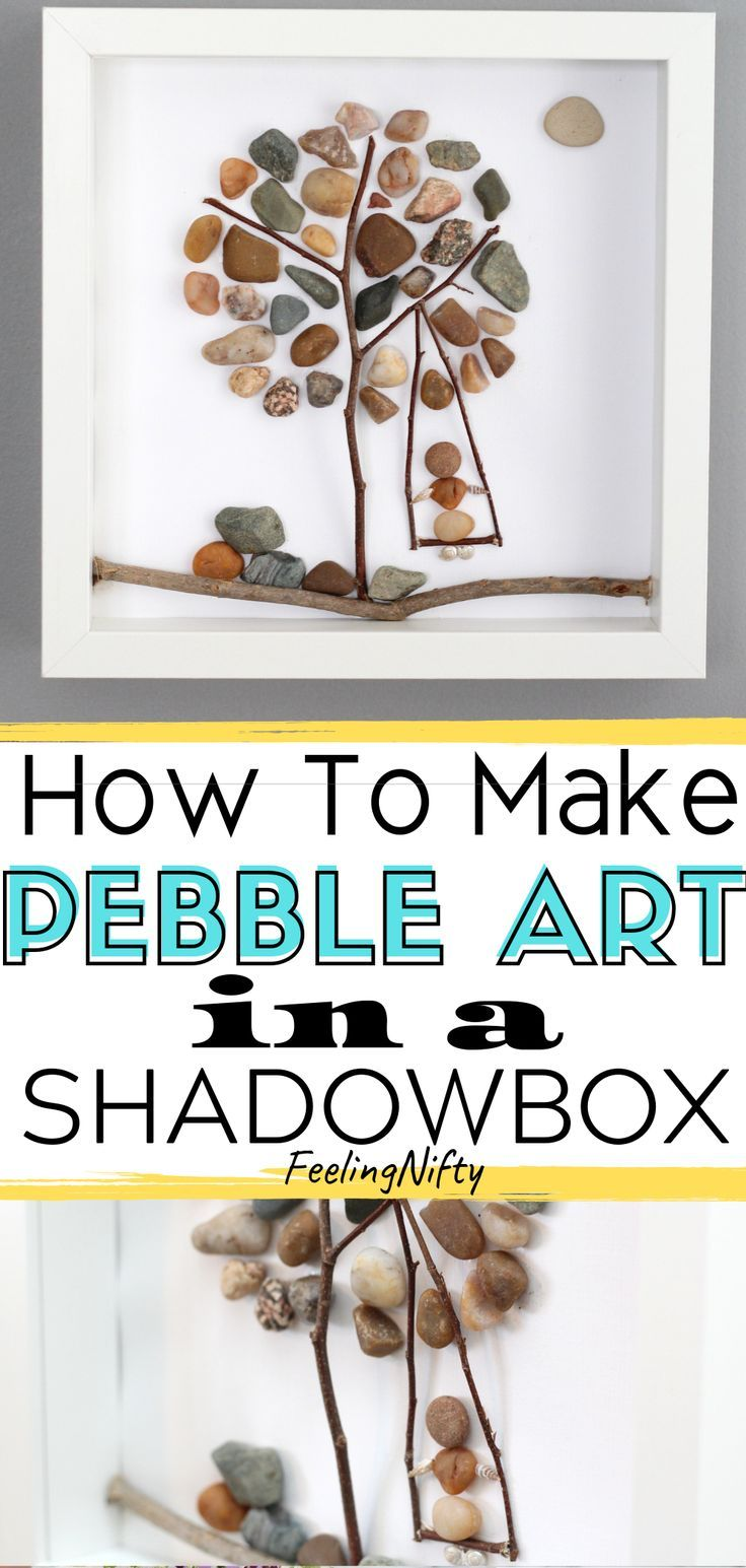Pebble Art- Create a Super Easy DIY Pebble Art Tree {Easy Art/Craft Ideas} #craftstosell