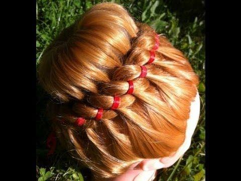 прическа на длинные и средние волосы праздничный пучок и