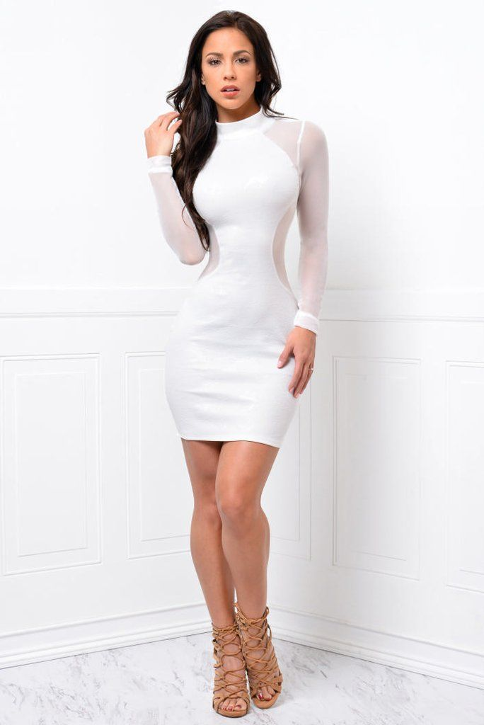 fc8d77d6da0 It could obviously show out you a sleek sexy silhouette once slip in this  solid white bodycon dress