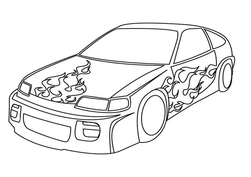 auto ausmalbilder 05 | Kinderspiele | Pinterest | Auto ausmalbilder ...