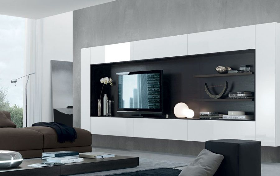 Incroyable 21 Floating Media Center Designs For Clutter Free Living Room. Open WallModern  Wall UnitsTv ...