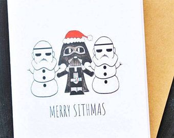 Funny And Cute Star Wars Christmas Card Star Wars Christmas Card Merry Sithmas Darth Va Funny Christmas Cards Diy Funny Christmas Cards Diy Christmas Cards