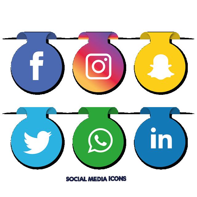Social Media Icons Set Social media icons, Face book app